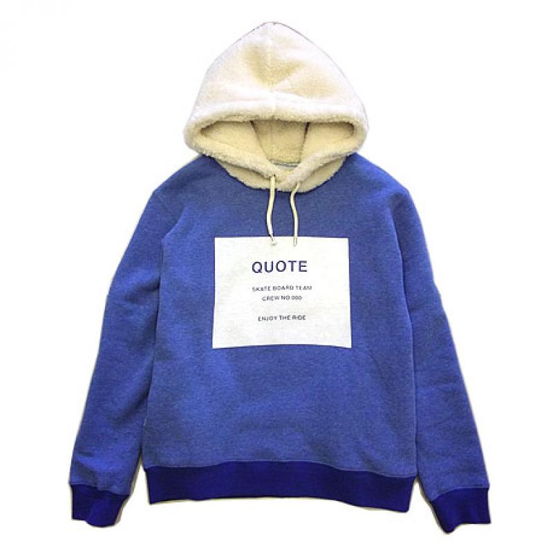 "Quote【""SKATE TEAM""ボアフードパーカ】PICK UP★"