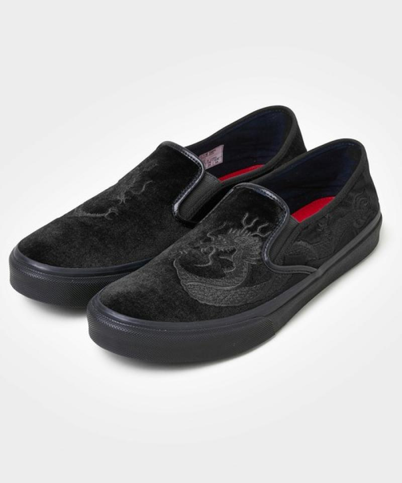 "【Cloud9 Official Online Store 】DELUXE×VANS ""SLIP ON"" (BLACK) 6月16日発売"