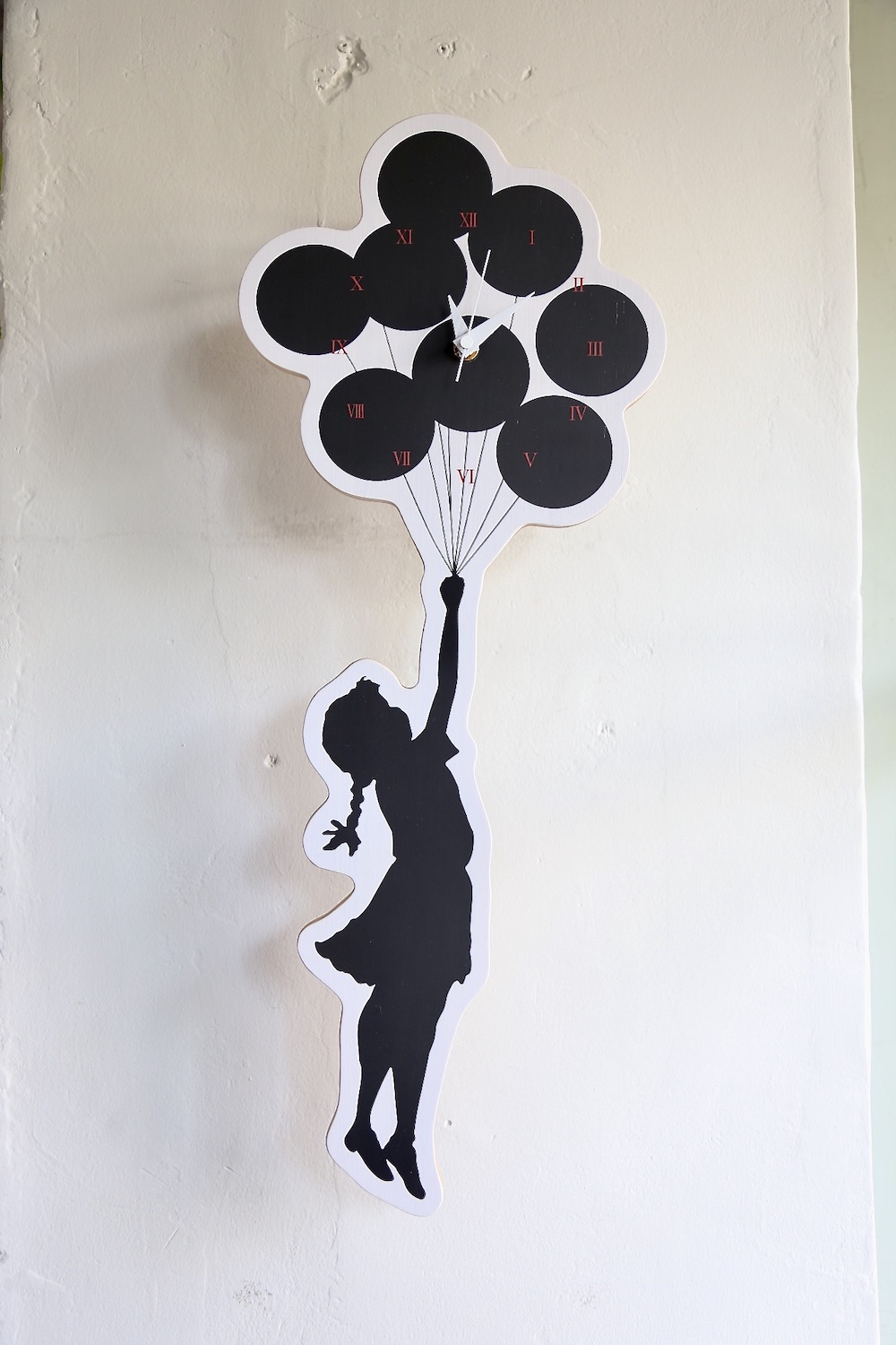 Brandalism WALL CLOCK 'FLYING BALLOONS GIRL' 2nd made by KARIMOKU発売